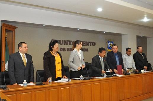 Los integrantes del Comité, con al alcalde Gilberto Hirata enmedio (Foto: cortesía)