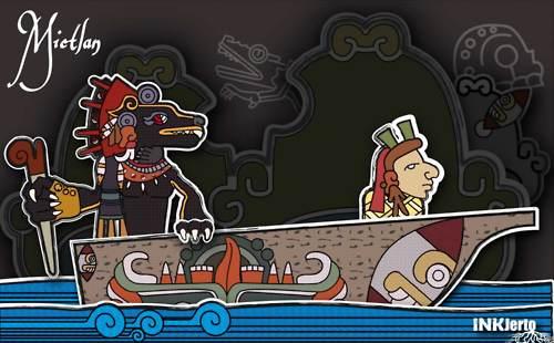 Xólotl era también el dios de fuego y de la mala suerte. Hermano gemelo de Quetzalcoatl, es identificado como el dios azteca del fuego (Grabado: inyternet).