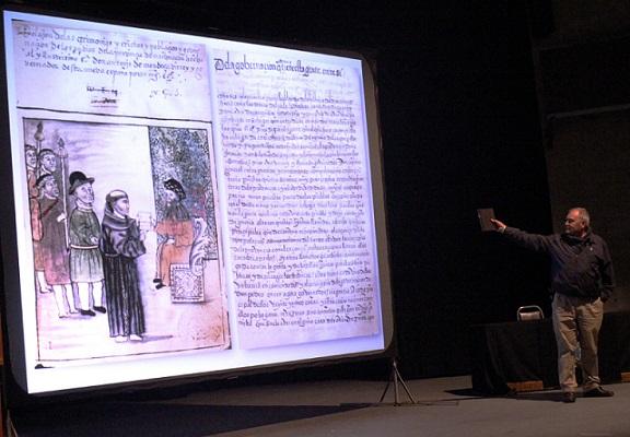 La edición digital de la obra elaborada en el siglo XVI, fue analizada por el doctor Gerardo Sánchez Díaz en el Primer Congreso Ciencia y Humanismo Centro, de la Academia Mexicana de Ciencias (Foto: Alejandra Monsiváis/AMC).