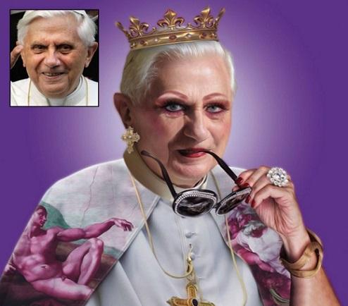 El papa Ratzinger, en la serie War Drags You Out (Foto: internet).