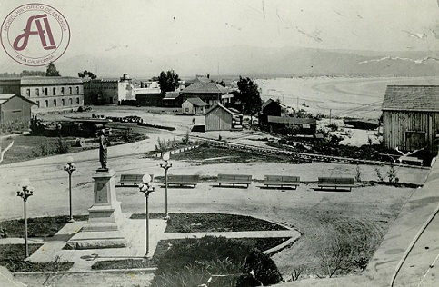 Vista del antiguo Paseo Hidalgo (Foto: Archivo Histórico de Ensenada).