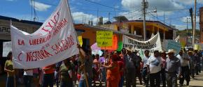 NESTORA SALGADO OLINALA PROTESTA