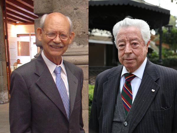 Los doctores Alfonso Romo de Vivar (izquierda) y José Luis Mateos Gómez, miembros de la Academia Mexicana de Ciencias (Foto: Guillermo Delgado y AMC).