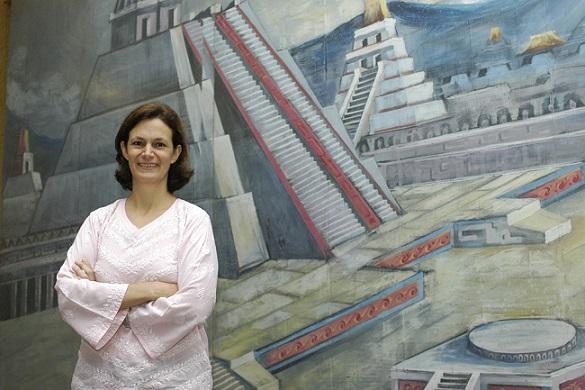 La doctora Erika Pani Bano, experta en historia política de México y Estados Unidos  en el siglo XIX (Foto: Elizabeth Ruiz Jaimes/AMC).