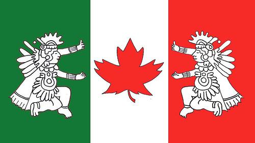 BANDERA MEXICO CANADA