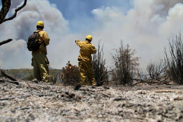 Las llamas no tocaron el Parque Nacional