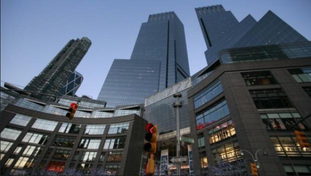 El exclusivo y lujoso complejo de condominios Time Warner Center, con vista paisajística a Central Park, en Nueva York (Foto: New York Times).