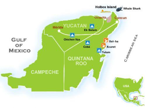 ISLA HOLBOX MAPA