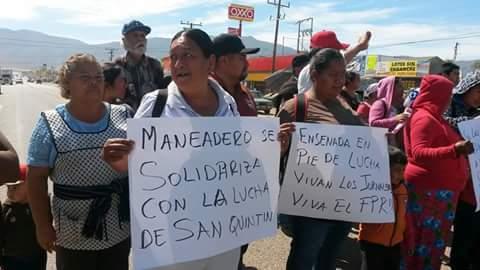 Inusual apoyo en Maneadero (Foto: internet).