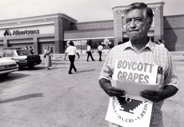 El ejemplo de lucha del mítico líder César Chávez en el boicot a las uvas de California no se repetirá en el caso San Quintín (Foto: internet)