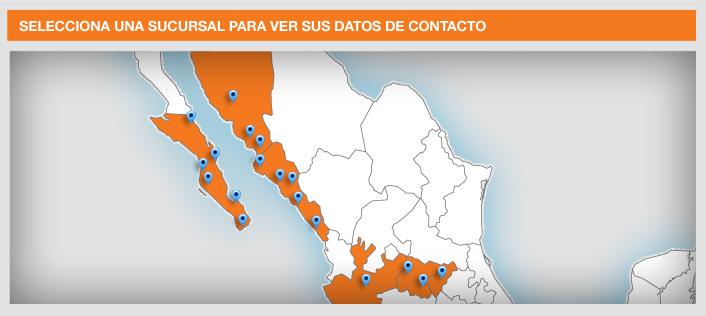 El mapa detalla la presencia del consorcio gasero en la República Mexicana