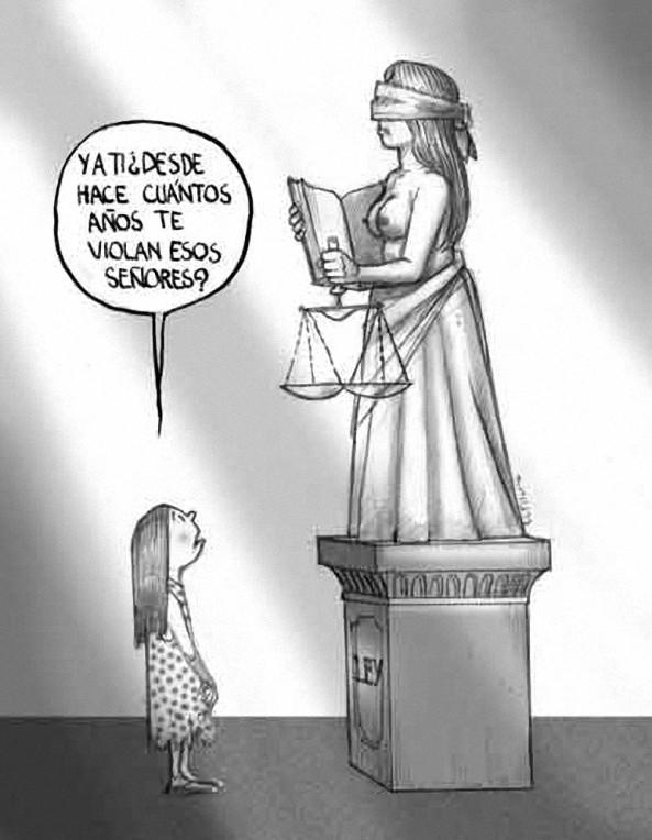 JUSTICIA VIOLADA CARTON