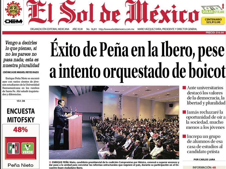 SOL DE MEXICO Y EPN