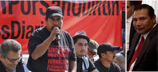 Fidel Sánchez y Luis Enrique Miranda: dos hombres de estatura diferente (Foto: intenet).