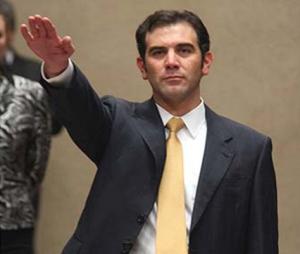 Lorenzo Córdoba, al momento de tomar la protesta como Consejero Presidente del Instituto Nacional Electoral (Foto: Internet).