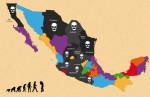 MEXICO MAPA CALAVERAS