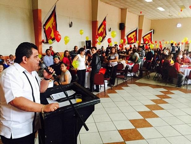 Armando Reyes, coordinador estatal del PT en Baja California, el día de su autodestape a la alcaldía de Ensenada (Foto: PT-Ensenada).