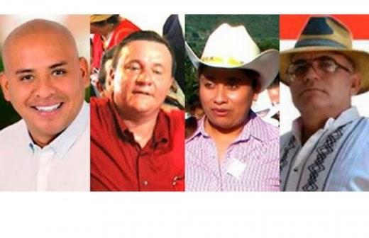 Algunos de los candidatos asesinados durante la pasada campaña electoral (Foto: internet)