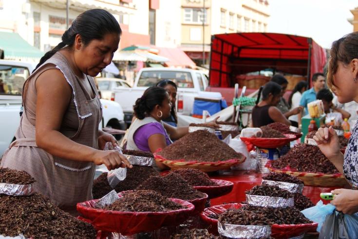 Venta de chapulines en México (Foto: Banco Mundial).