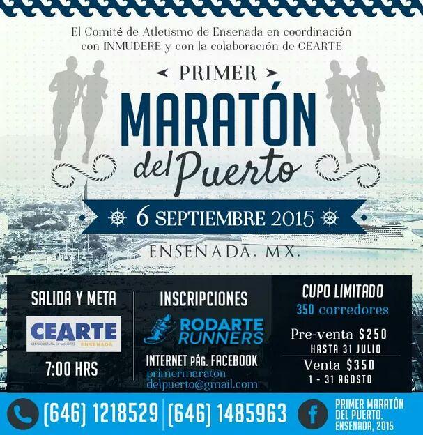 MARATON ENSENADA 2015 CARTEL