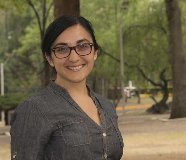 Natalia de Marinis, de la Facultad de Ciencias Políticas de la Universidad Nacional Autónoma de México, obtuvo uno de los premios de la Academia Mexicana de Ciencias a Mejores tesis de doctorado en Ciencias Sociales y Humanidades 2014 (Foto: Arturo Orta/DGDC).