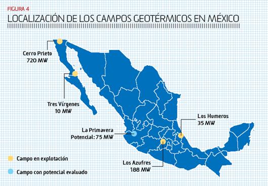 GEOTERMIA MAPA SITIOS MEXICO