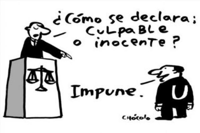 JUSTICIA IMPUNIDAD CARTON