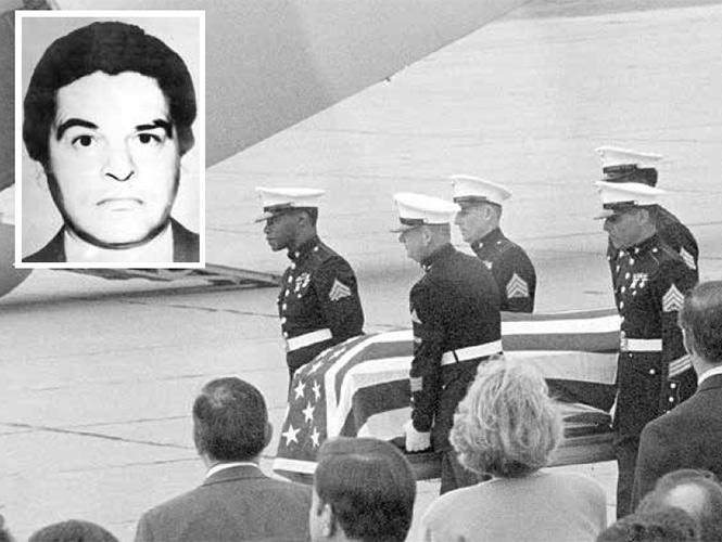 El sepelio militar de Enrique Camarena, agente de la DEA (Foto: Archivo).