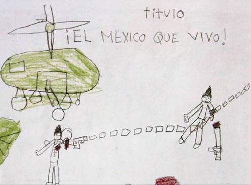 NIÑO PINTA MATANZA MEXICO