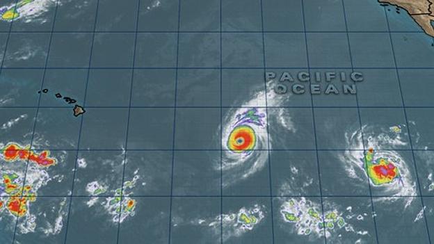 """La presencia de """"tren de ciclones"""" en el Pacífico hawaiano, consecuencia directa de El Niño 2015-2016 (Foto: CICESE)."""