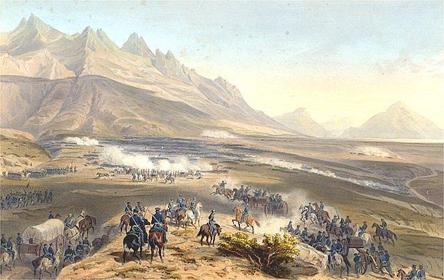 Batalla de La Angostura, una de las más sangrientas en la guerra entre México y los Estados Unidos (Foto: internet).