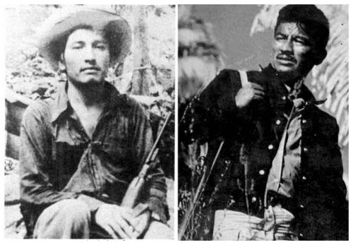 Lucio Cabañas y Genaro Vázquez (Foto: internet).