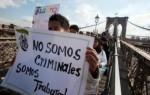 MIGRANTES PROTESTA EU NO CRIMINALES