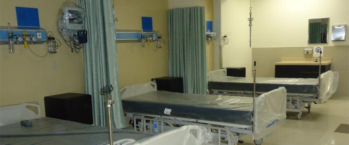 Área de camas del Hospital General de Ensenada (Fotos: internet).