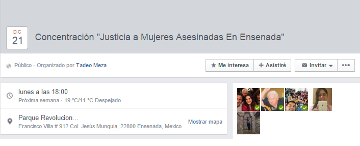 MUJERES ASESINADAS CONCENTRACION2015