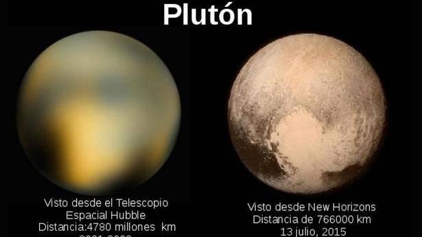 PLUTON IMAGENES TELESCOPIOS