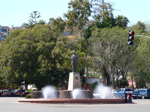 El Parque Revolución de Ensenada, uno de los pocos espacios verdes de la ciudad (Foto: Archivo).
