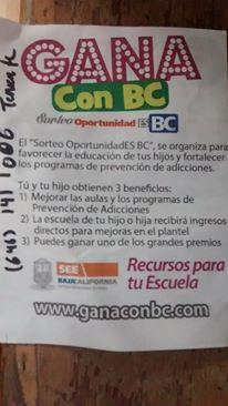 BOLETOS ESCUELAS SORTEO GOB BC