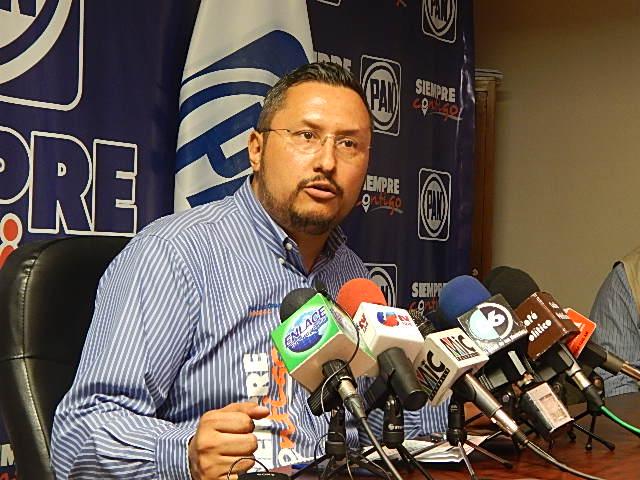 José Luis Ovando, presidente del PAN estatal (Foto: cortesía).