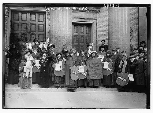 La lucha por el voto de la mujer en Inglaterra, principios del Siglo XX (Foto: Internet).
