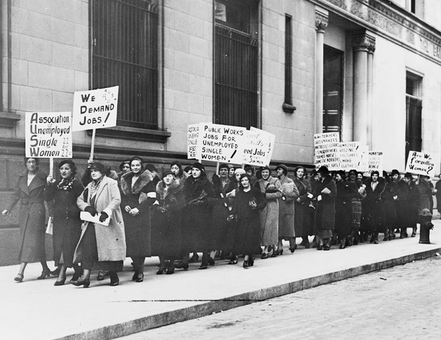 Mujeres socialistas en Estados Unidos, a principios del Siglo XX (Foto: internet).