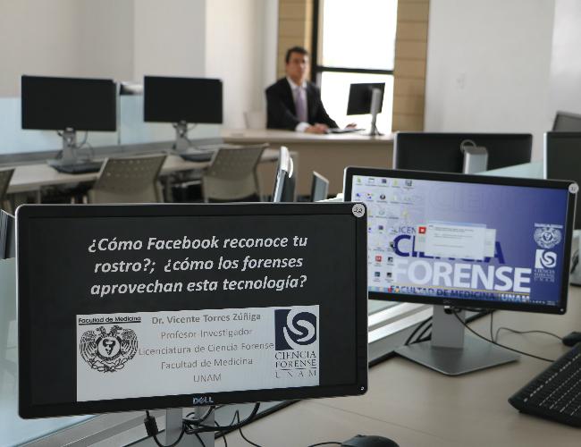 En la Facultad de Ciencias Forenses de la UNAM se enseña a los alumnos el uso de algoritmos similares a los empleados por Facebook en su programa 'DeepFace'.
