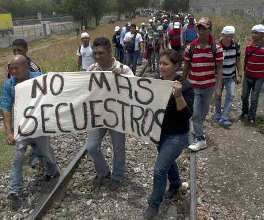 MIGRANTES CENTROAMERICANOS PROTESTA