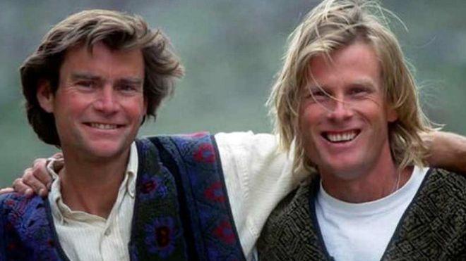 Alex Lowe y Daniel Bridge desaparecieron el 5 de octubre de 1999 cuando intentaban ascender al pico del monte Shishapangma, en el Tíbet. (Foto: Fundación Alex Lowe).