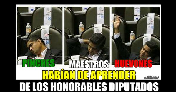 MAESTROS HUEVONES Y DIPUTADOS