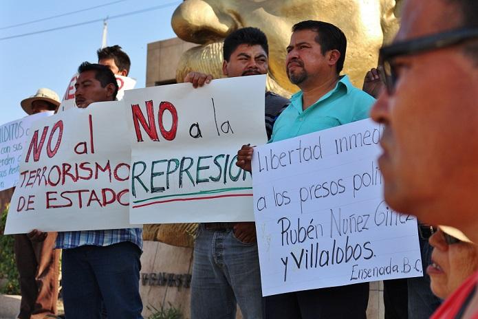 PROTESTA POR MAESTROS REPRESION