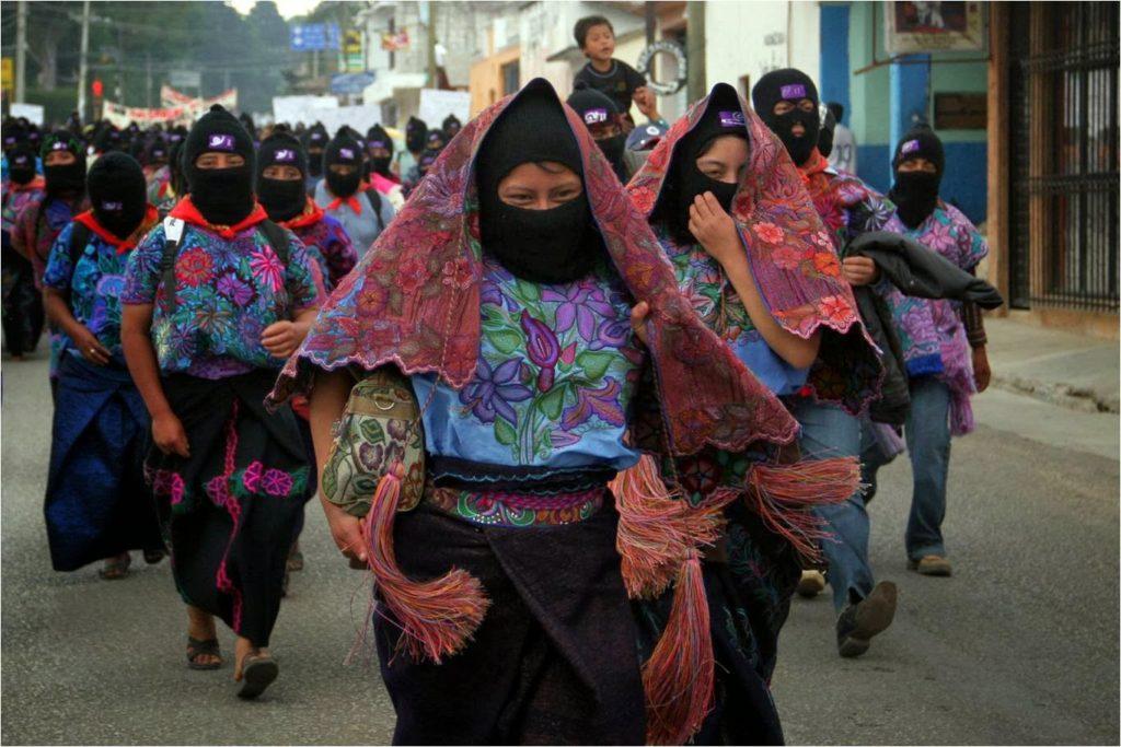Neo zapatistas encabezan un importante movimiento social en el sur de México (Foto: Internet):