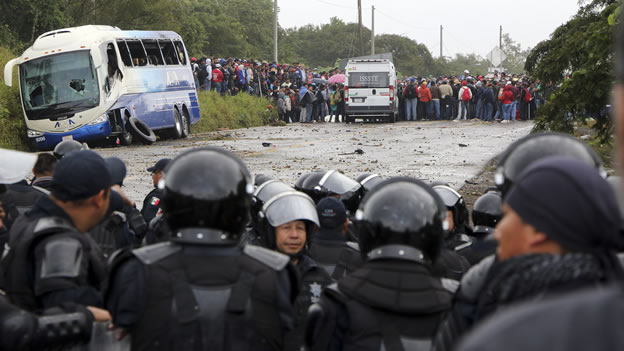 Chiapanecos en lucha (Foto: Expansión).