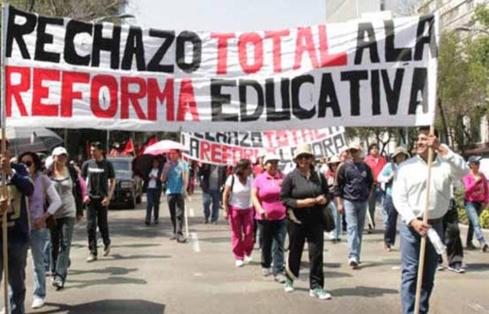 CNTE RECHAZO REFORMA EDUCATIVA