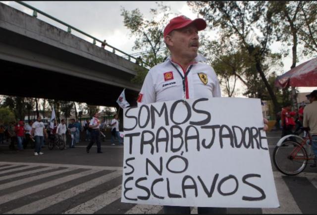 La protesta, en México (Internet).